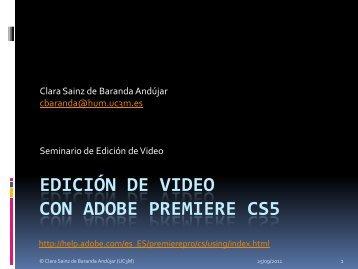 EDICIÓN DE VIDEO CON ADOBE PREMIERE - e-Archivo