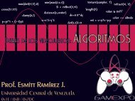 Behind the video games: Algorithms (spanish) - Universidad Central ...