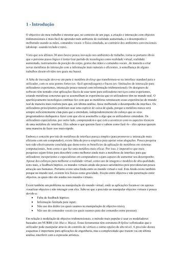 Relatório da Cadeira Projecto de Dissertação