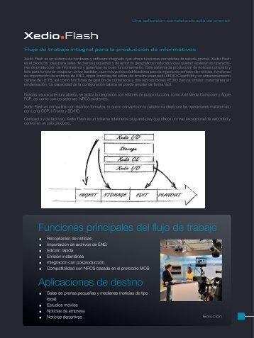 Funciones principales del flujo de trabajo Aplicaciones de ... - EVS