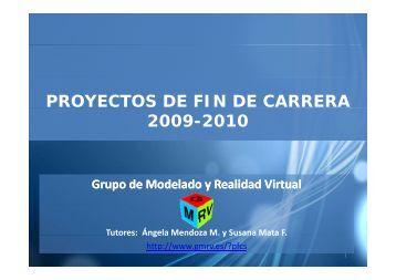 PROYECTOS DE FIN DE CARRERA 2009-2010 - GMRV