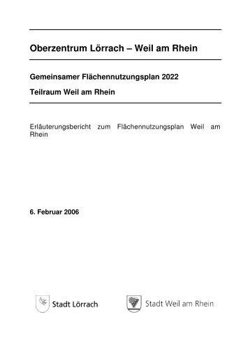 Erläuterungsbericht zum FNP 2022 - Stadt Weil am Rhein