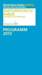 Download Jahresprogramm 2013 [PDF] - Regionalpark RheinMain