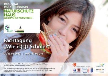 "Fachtafgung ""Wie is(s)t Schule"""""