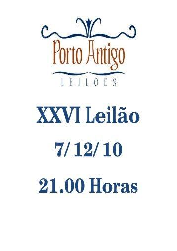 XXVI Leilão - Leiloeira Porto Antigo