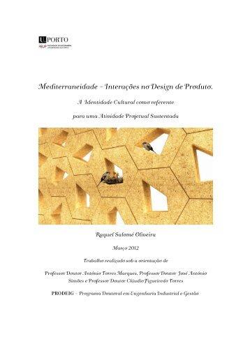 Mediterraneidade - Interações no Design de Produto. - Repositório ...