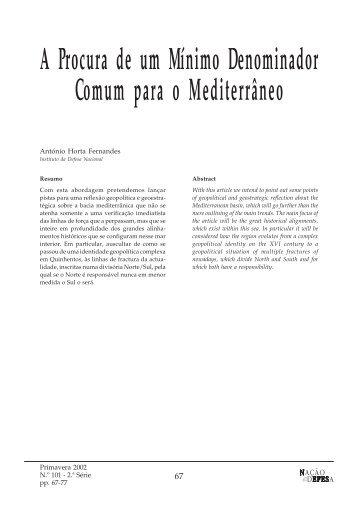 A Procura de um Mínimo Denominador Comum para o Mediterrâneo