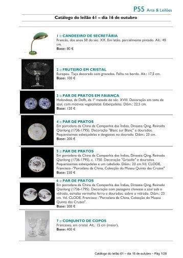 P55 Arte & Leilões Catálogo do leilão 61 – dia 16 de outubro