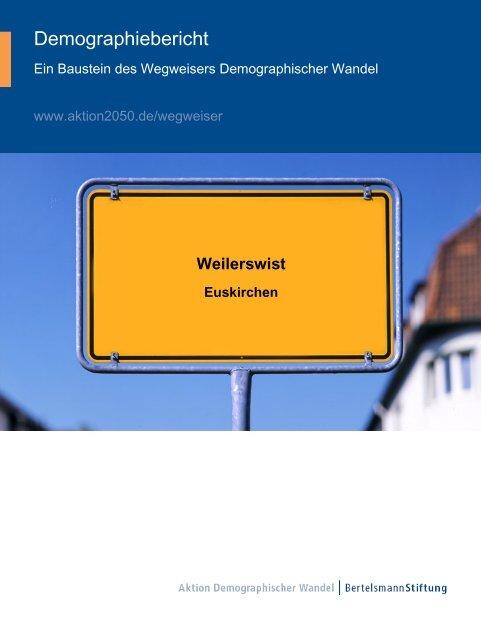 Wegweiser Demographischer Wandel - Gemeinde Weilerswist