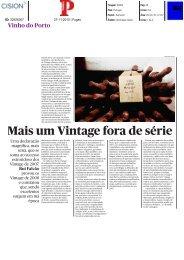 Mais um Vintage fora de série - Instituto dos Vinhos do Douro e Porto