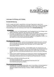 Informationen über Schülerbeförderung