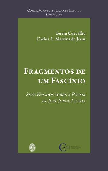 Fragmentos de um Fascínio - Estudo Geral - Universidade de Coimbra