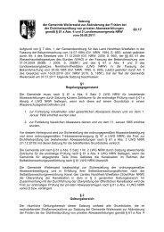 60.17 Satzung zur Abänderung der Fristen bei der Dichtheitsprüfung ...