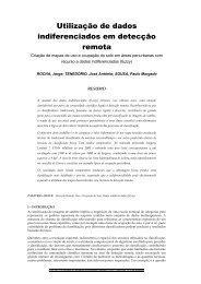 Utilização de dados indiferenciados em detecção remota