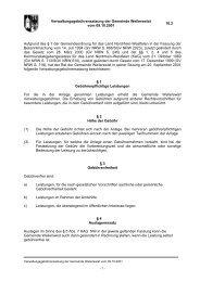 10.2 Verwaltungsgebührensatzung der Gemeinde Weilerswist