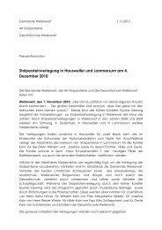 presseinformation 4.12.2010 - Gemeinde Weilerswist