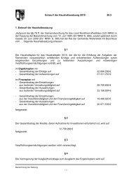20.5 Haushaltssatzung 2010 -Entwurf - Gemeinde Weilerswist