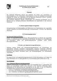 6.2 Richtlinien zur Förderung der Jugend - Gemeinde Weilerswist