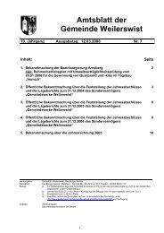 Amtsblatt 07.2008 - Gemeinde Weilerswist