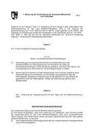 1. Änderung der Hauptsatzung der Gemeinde Weilerswist vom ...
