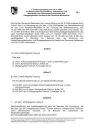 3. Änderung Satzung über die Errichtung von ...