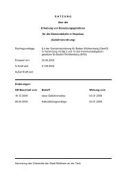 Gebührenordnung Zipfelbachhalle - Stadt Weilheim an der Teck