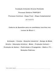 Fundação Armando Alvares Penteado Processo Seletivo FAAP ...