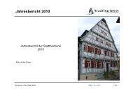 Jahresbericht 2010 -  Stadt Weilheim an der Teck