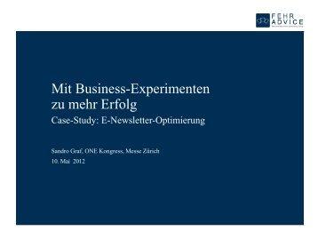 Sandro Graf, FehrAdvice & Partners AG - webstyle