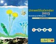 Umweltkalender 2013 - Stadt Weingarten