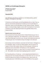 Schriftform Haushaltsrede 2012 - Stadt Weingarten