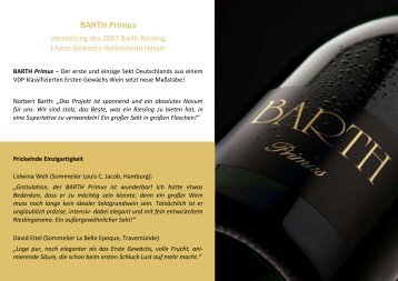 BARTH Primus_Sales Sheet -DIN A5 ... - Weingut Barth