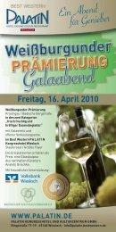 Weissburgunder Prämierung - Weingut Koch