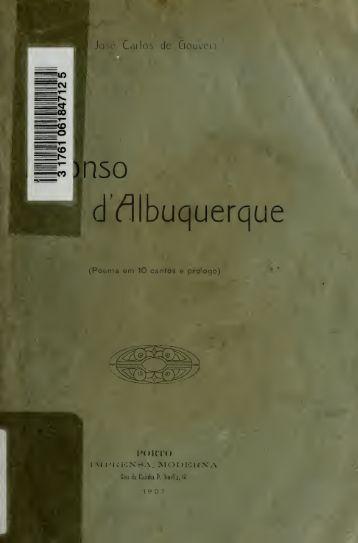 Affonso d'Albuquerque : poema em 10 cantos e prologo