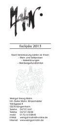 Frühjahr 2013 - Weingut Mahn