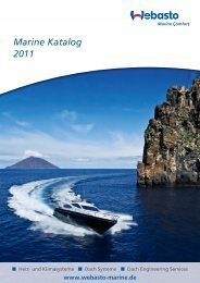 Marine Katalog 2011 - Webasto Marine Comfort