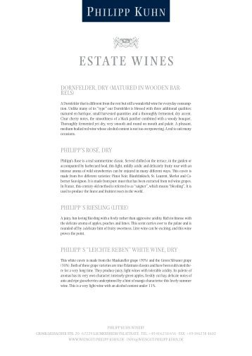 ESTATE WINES - Weingut Philipp Kuhn