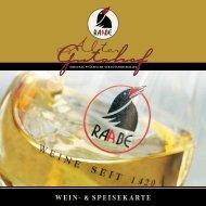 WEIN- & SPEISEKARTE - Weingut Raabe