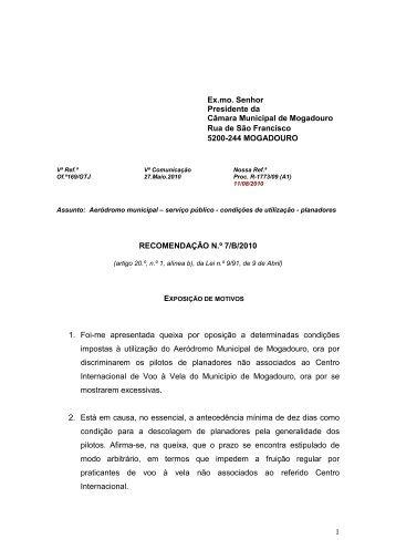 serviço público - condições de utilização - planadores - Provedor de ...