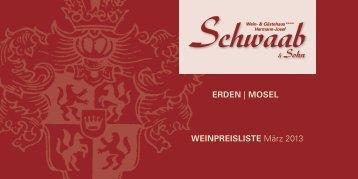 Preisliste downloaden - Weingut Schwaab