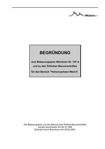 BEGRÜNDUNG - Stadt Weinheim