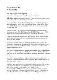 Haushaltsrede 2013 WeinheimPlus - Stadt Weinheim