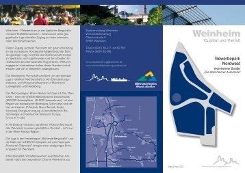 Flyer Gewerbepark Nordwest -  Viernheimer Straße