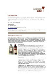 Liebe Weinfreunde, Welt der Weine und ... - Weinladen Dehm