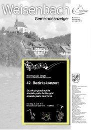 Nummer 13 Donnerstag, 31. März 2011 - weisenbach.de