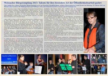 Bericht und Bildergalerie -  Weissach