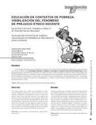 educación en contextos de pobreza: visibilización del ... - Saber ULA