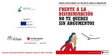 frente a la discriminación no te quedes sin argumentos - Cruz Roja ...