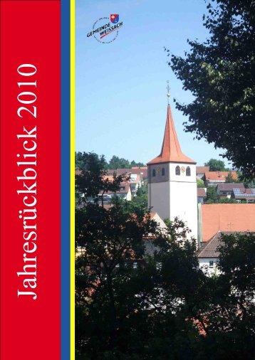 Jahresrückblick 2010 - Weissach