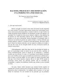 racismo, prejuicio y discriminación - Instituto de Estudios para la paz ...
